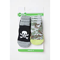Wag-A-Tude Grey Skull and Camouflage Sock Set