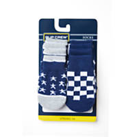 Wag-A-Tude Navy Star and Checkered Sock Set