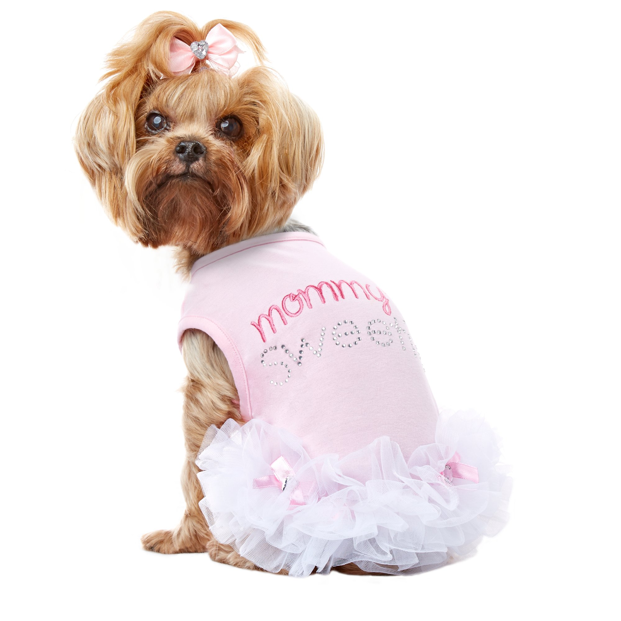 Smoochie Pooch Pink Mommy's Sweetie Ruffle Dress