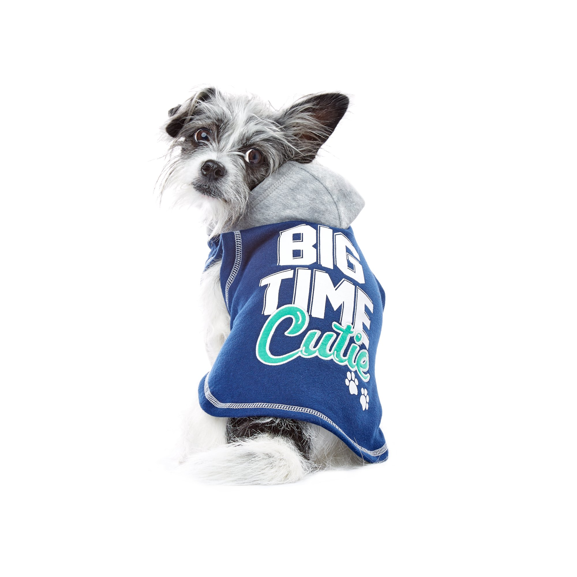 Wag-A-Tude Navy Big Time Cutie Hoodie