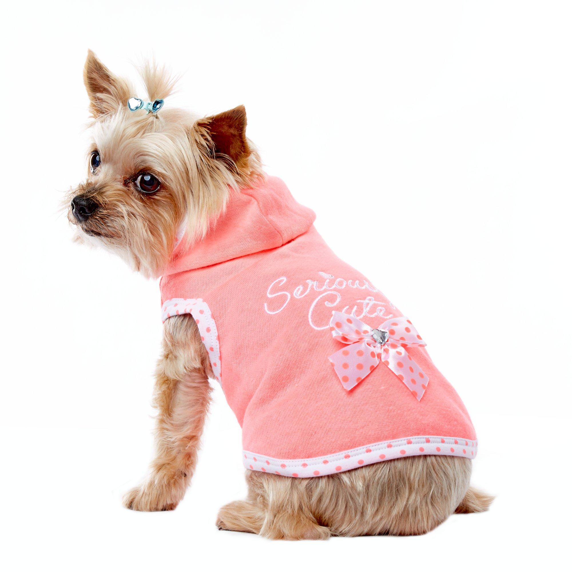 Smoochie Pooch Pink Seriously Cute Hoodie