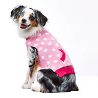 PupCrew Pink Dot Roll Neck Pocket Sweater