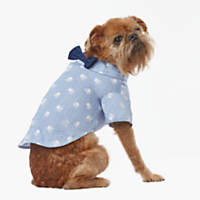 Wag-A-Tude Light Denim Bow Tie Button Up Shirt