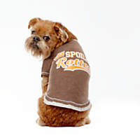 Wag-A-Tude Heather Brown Spoiled Rotten T Shirt