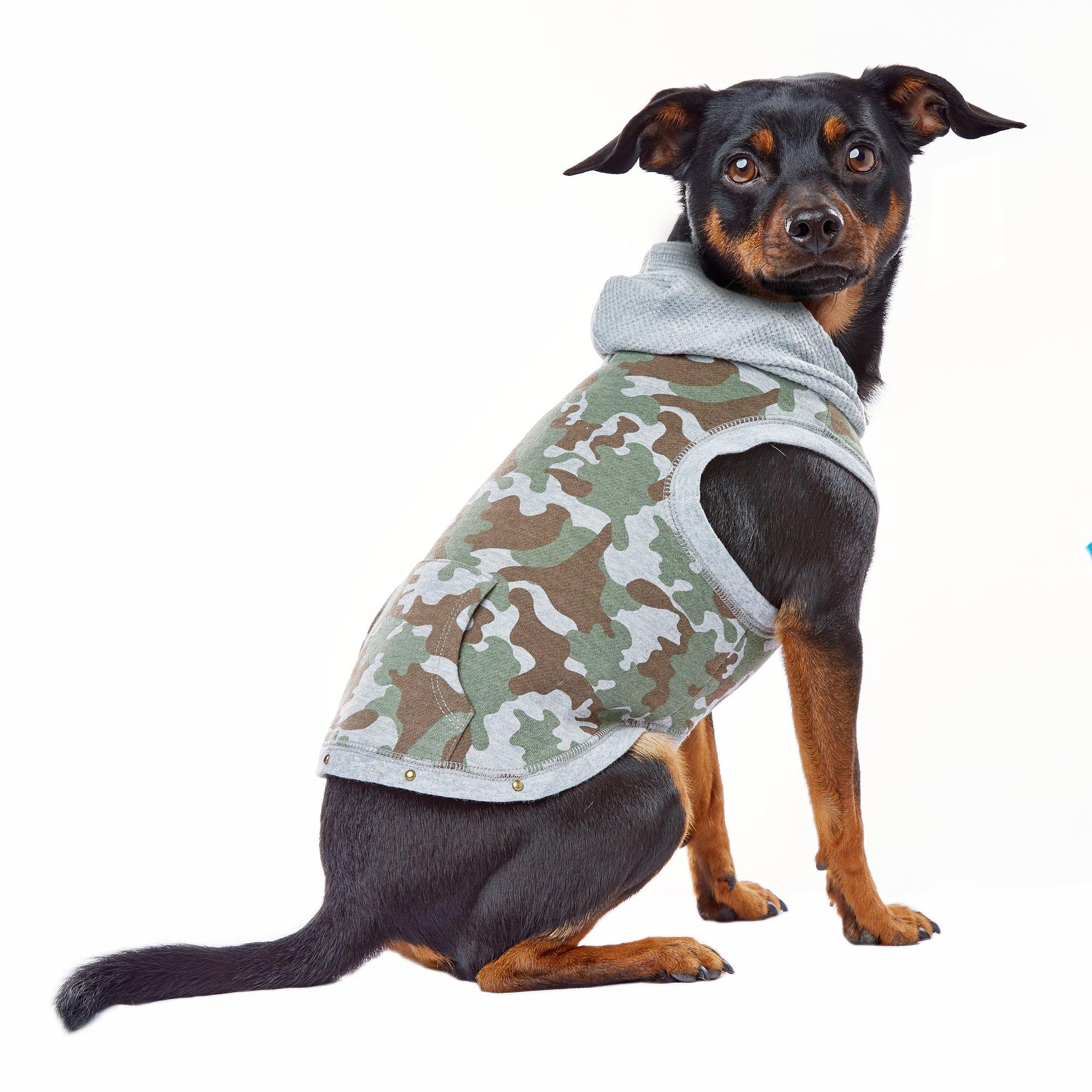 Wag-A-Tude Green Camo Pocket Hoodie