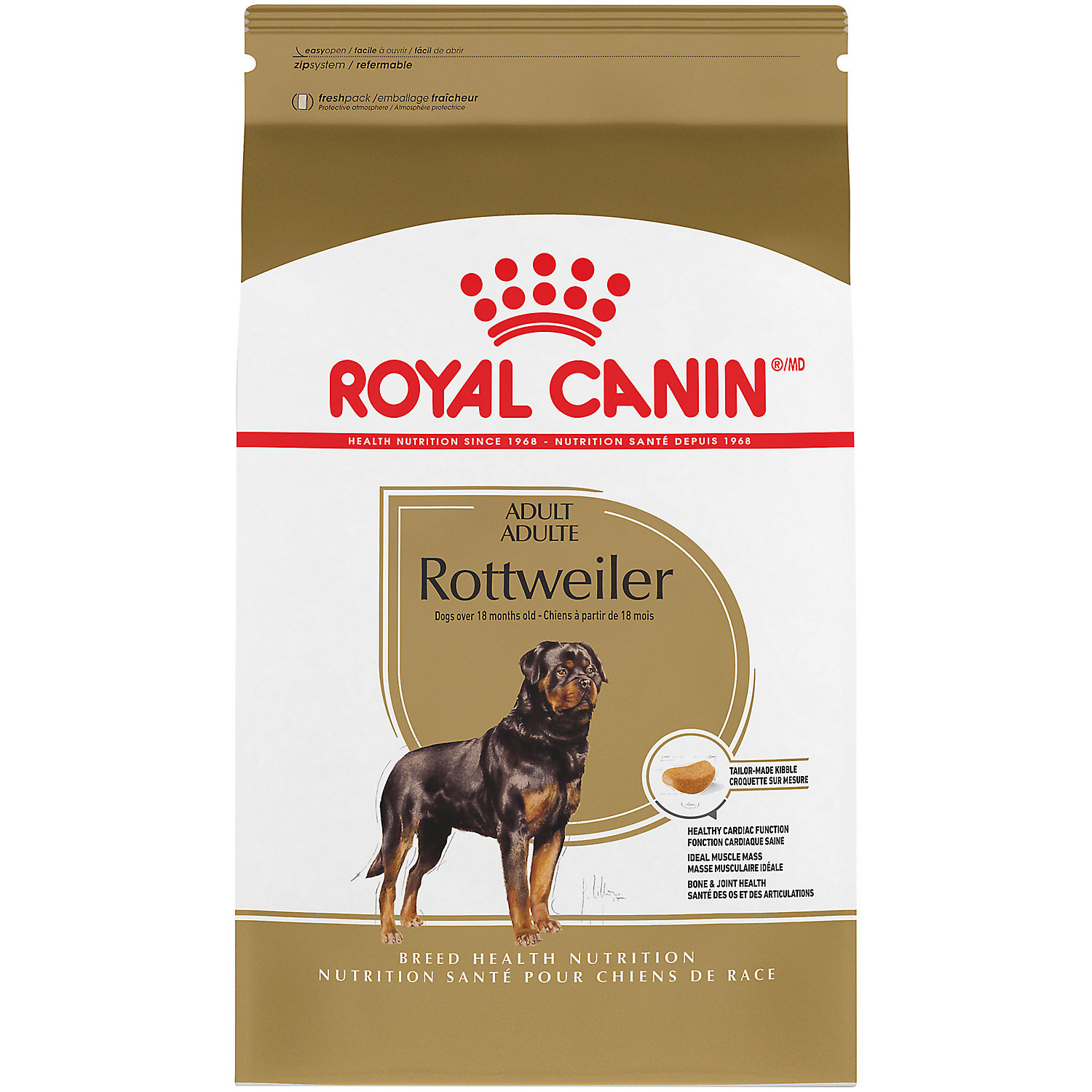 Royal Canin Breed Health Nutrition Rottweiler Adult Dry Dog Food 30 Pound