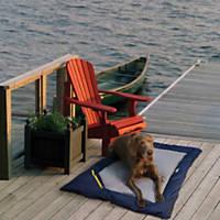 Kurgo Navy Stripe Travel Bed