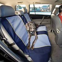Kurgo Navy Stripe Bench Seat Cover