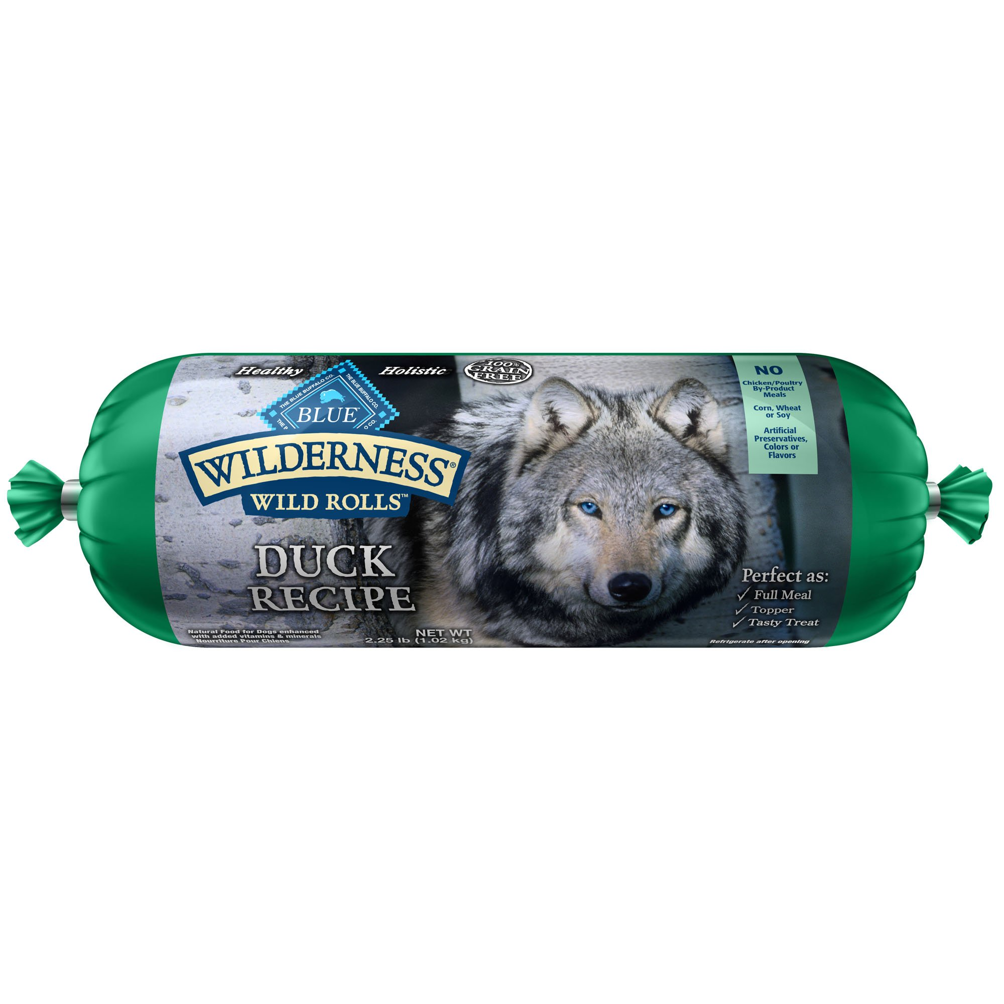Blue Buffalo Wilderness Wild Roll Duck Recipe Dog Food