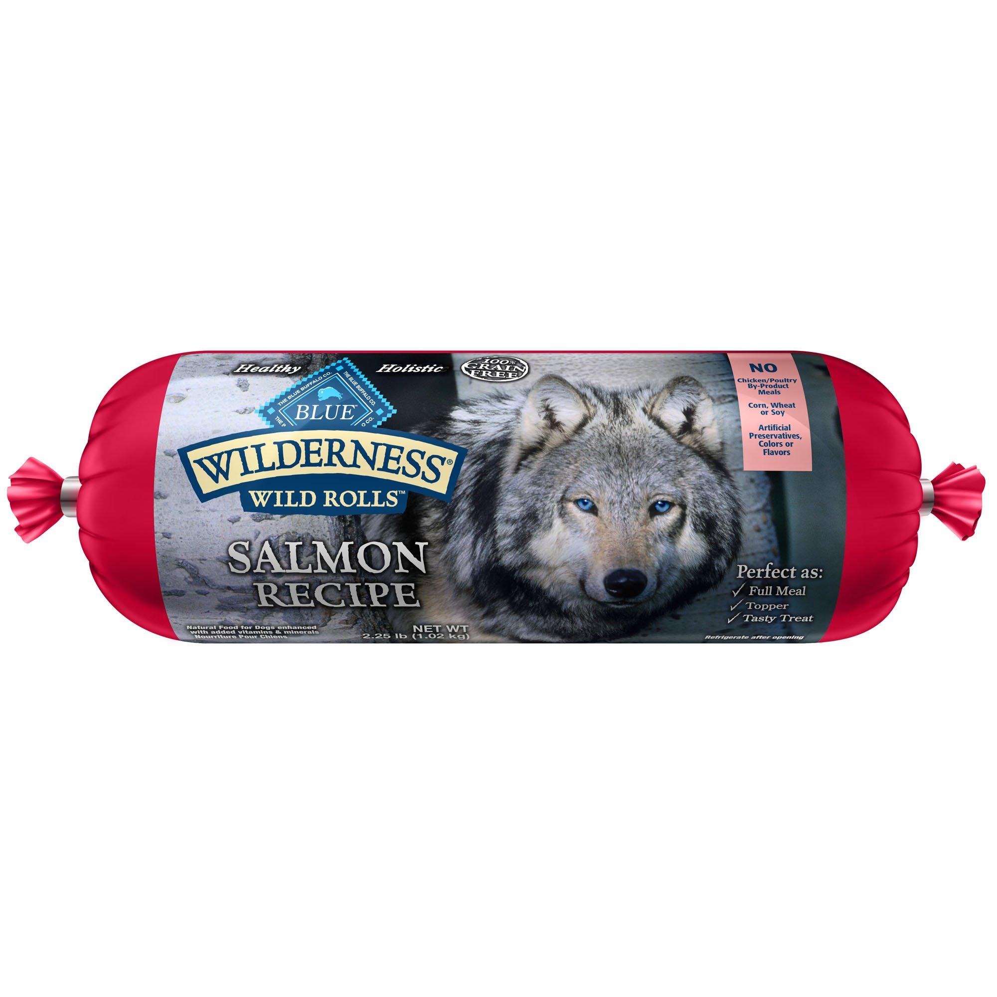 Blue Buffalo Wilderness Wild Roll Salmon Recipe Dog Food