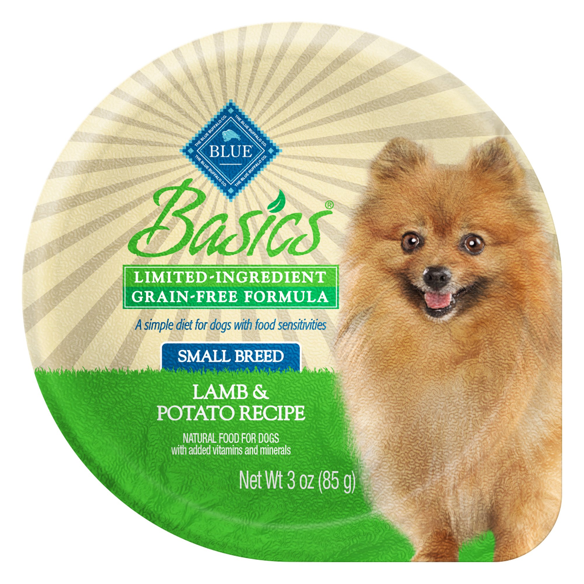 Blue Buffalo Basics Limited Ingredient Grain Free Small Breed Adult Lamb Dog Food Tray