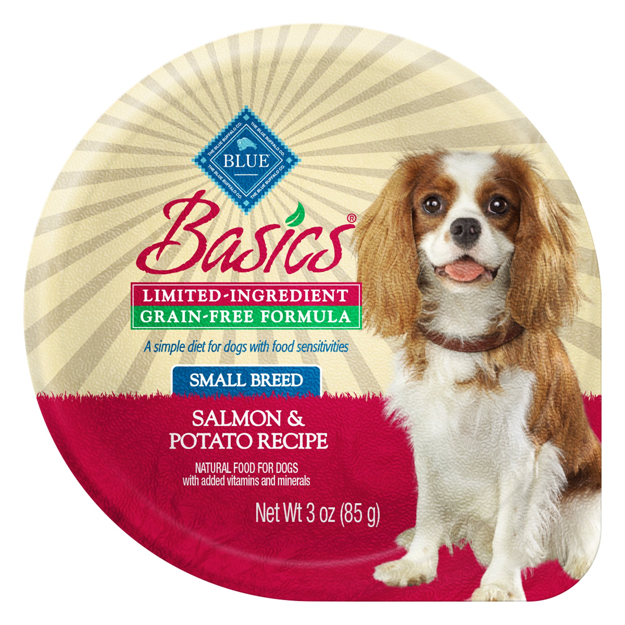 Blue Buffalo Basics Limited Ingredient Grain Free Small Breed Adult Salmon Dog Food Tray