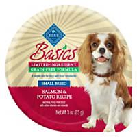 Blue Buffalo Basics Limited Ingredient Grain Free Small Breed Adult Salmon Dog Food Tray