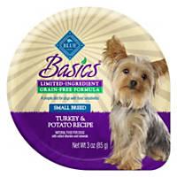 Blue Buffalo Basics Limited Ingredient Grain Free Small Breed Adult Turkey Dog Food Tray