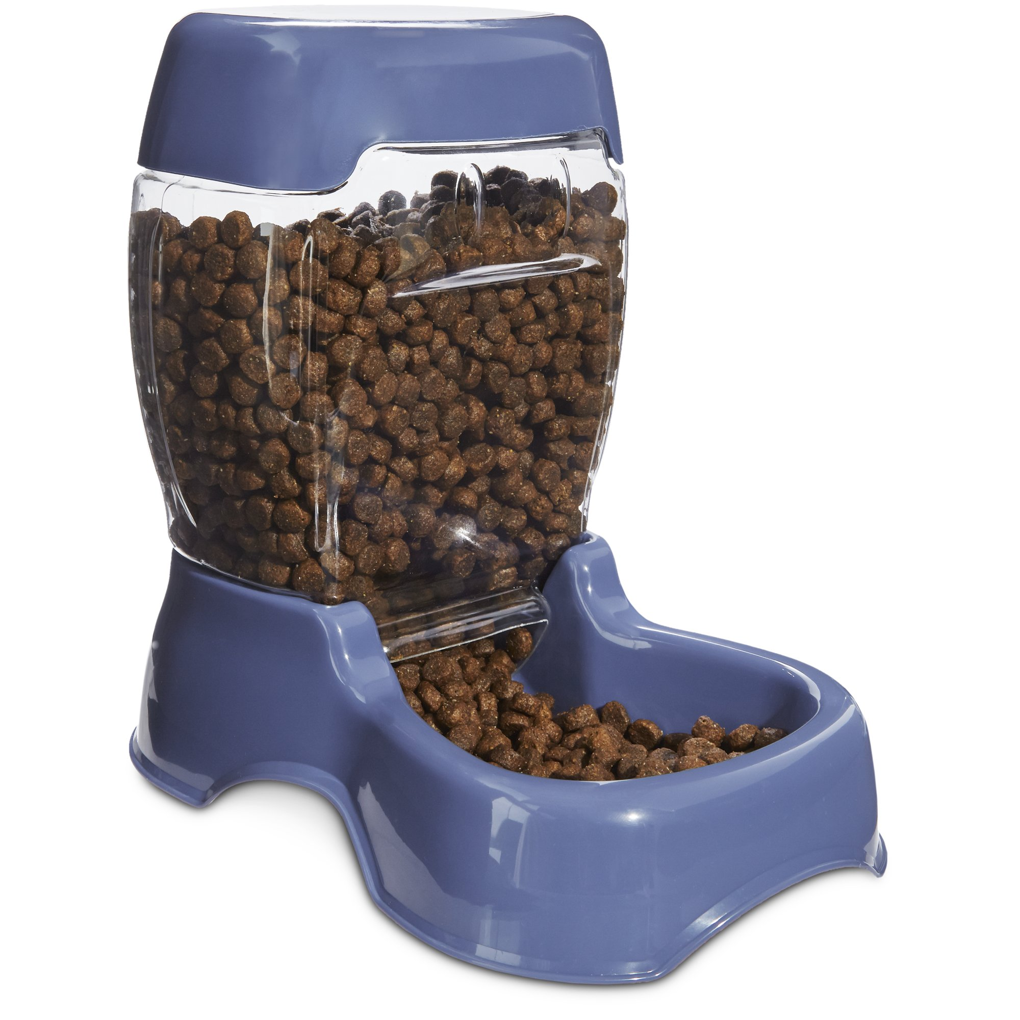 Harmony Cafe Gravity Feeder Navy Dog Bowl