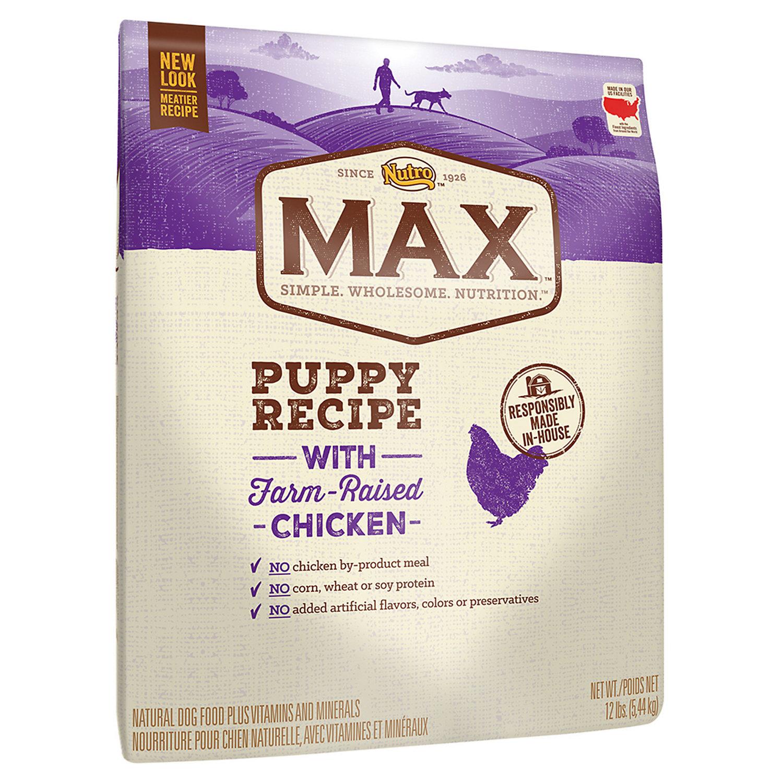 Nutro Max Puppy Recipe with Farm-Raised Chicken