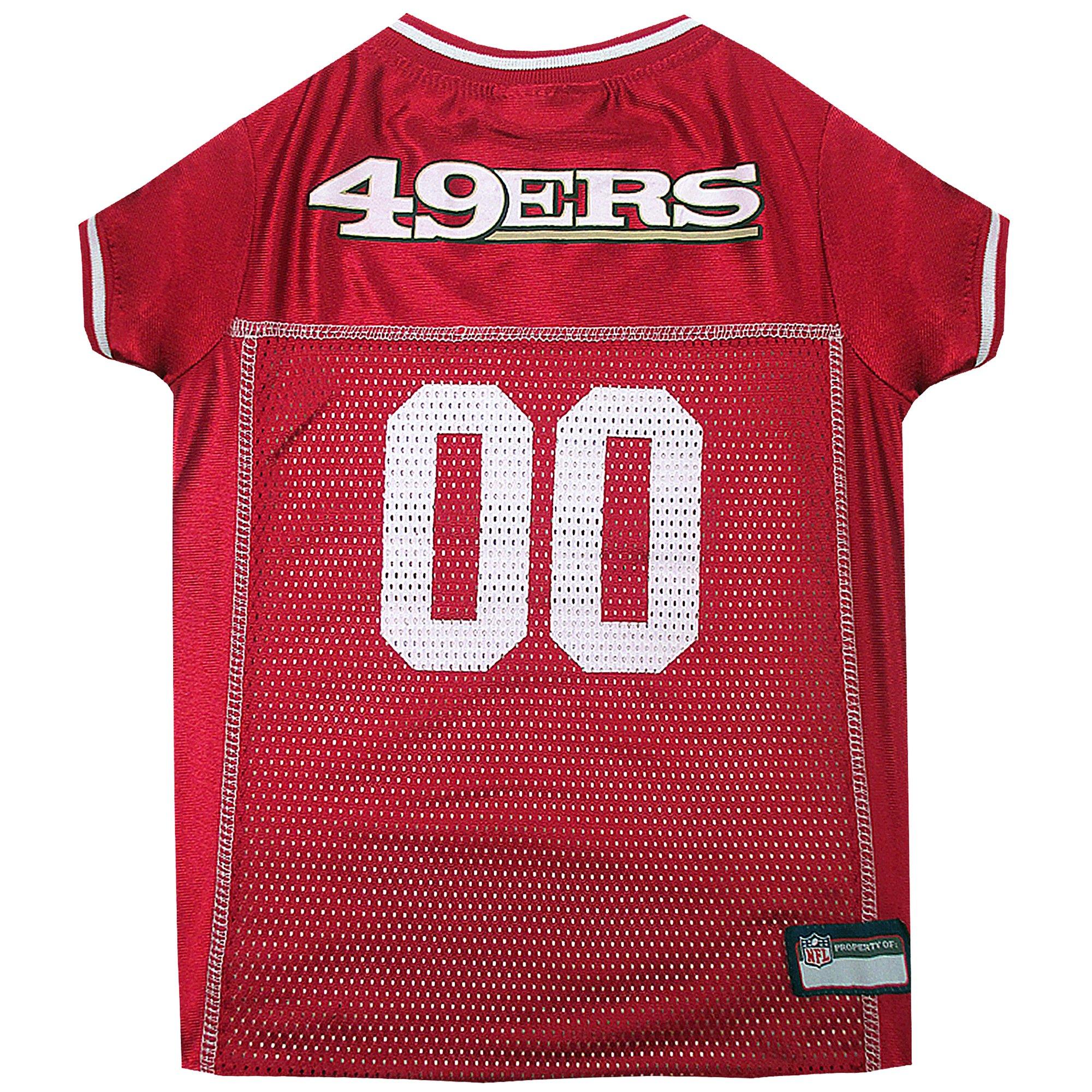 Pets First San Francisco 49ers NFL Mesh Pet Jersey