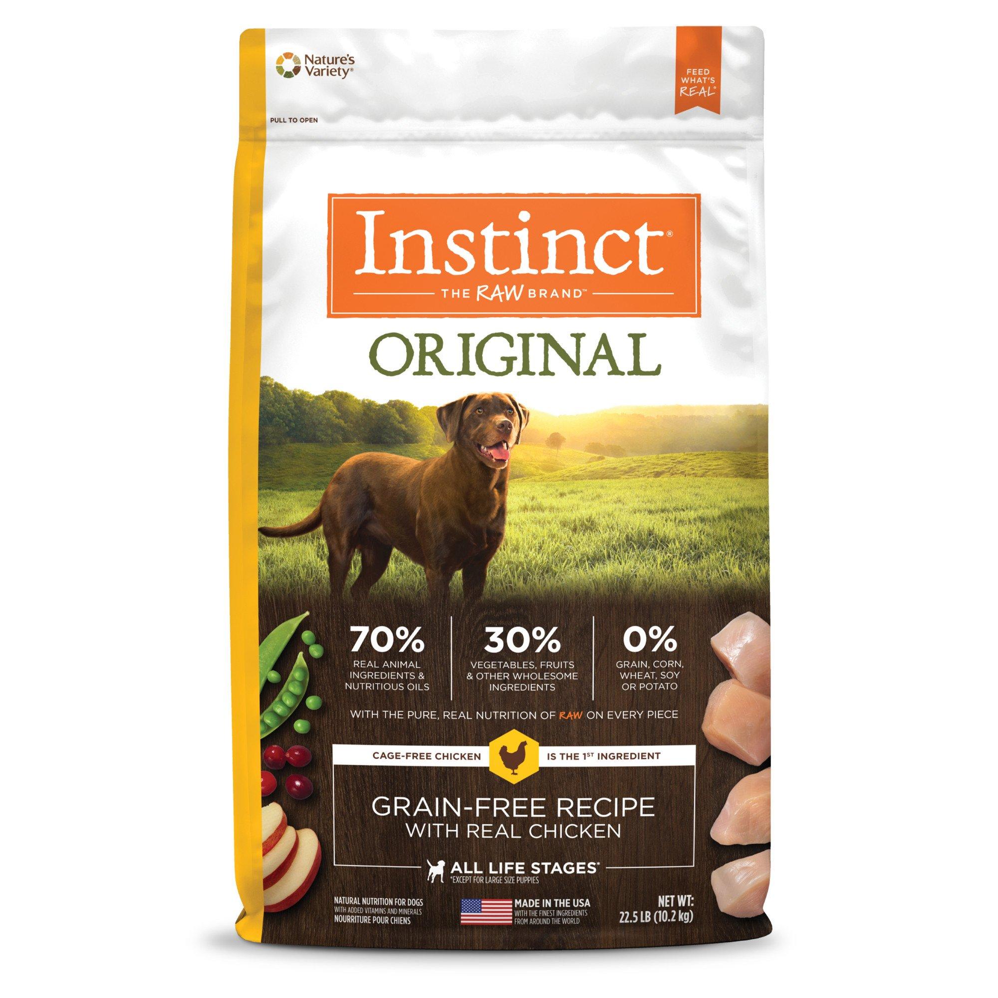 Nature's Variety Instinct Grain-Free Chicken Meal Dog Food