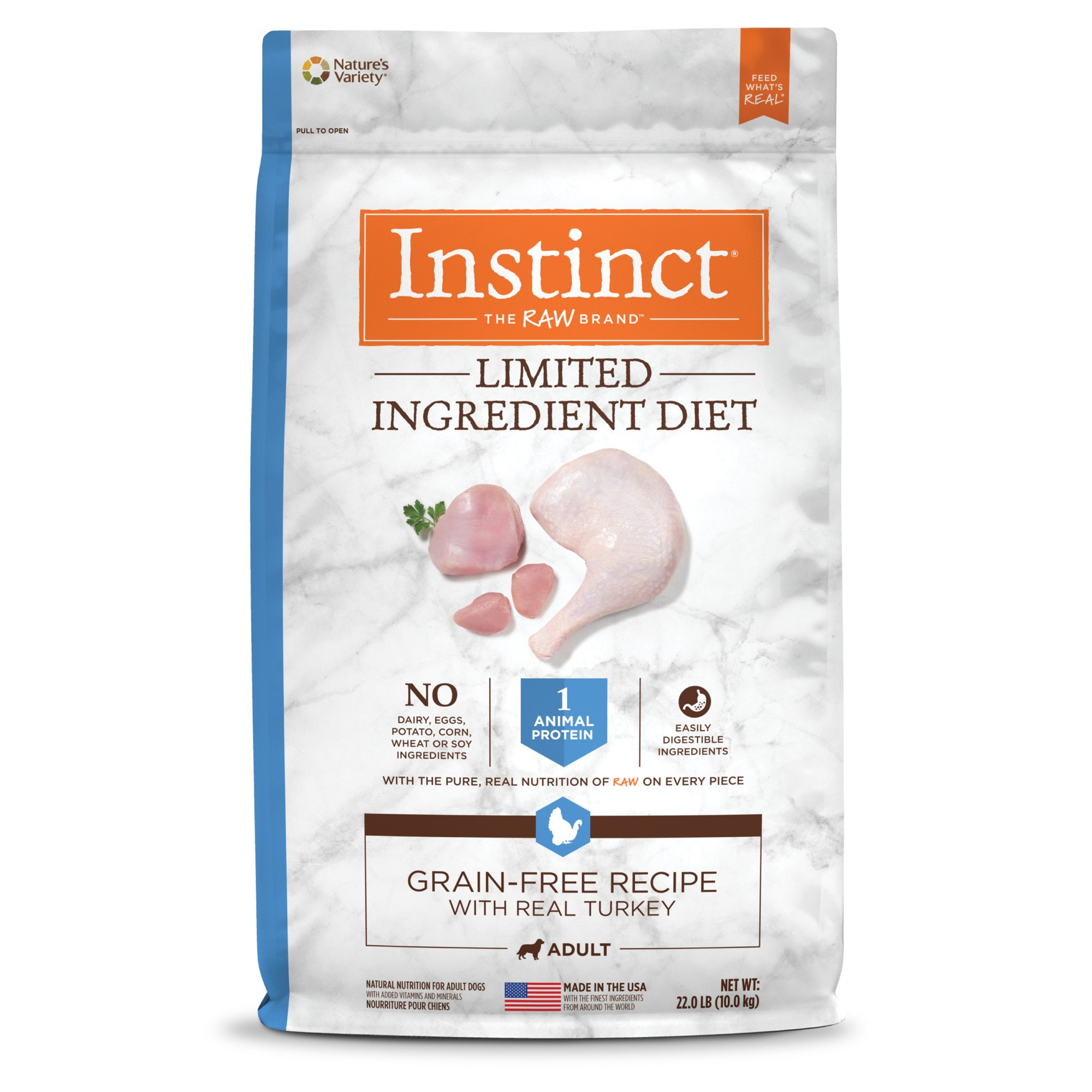 Nature's Variety Instinct Grain-Free Limited Ingredient Diet Turkey Meal Dog Food