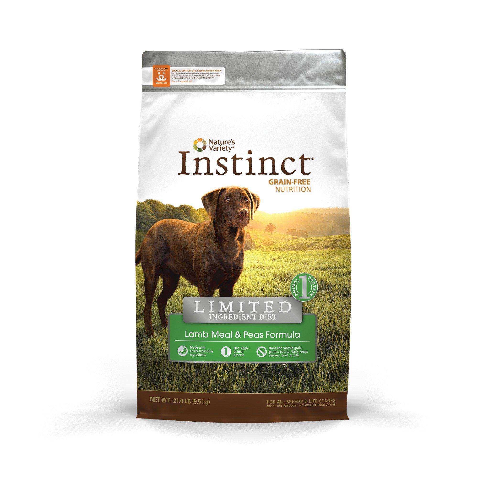 Nature's Variety Instinct Grain-Free Limited Ingredient Diet Lamb Meal & Peas Dog Food