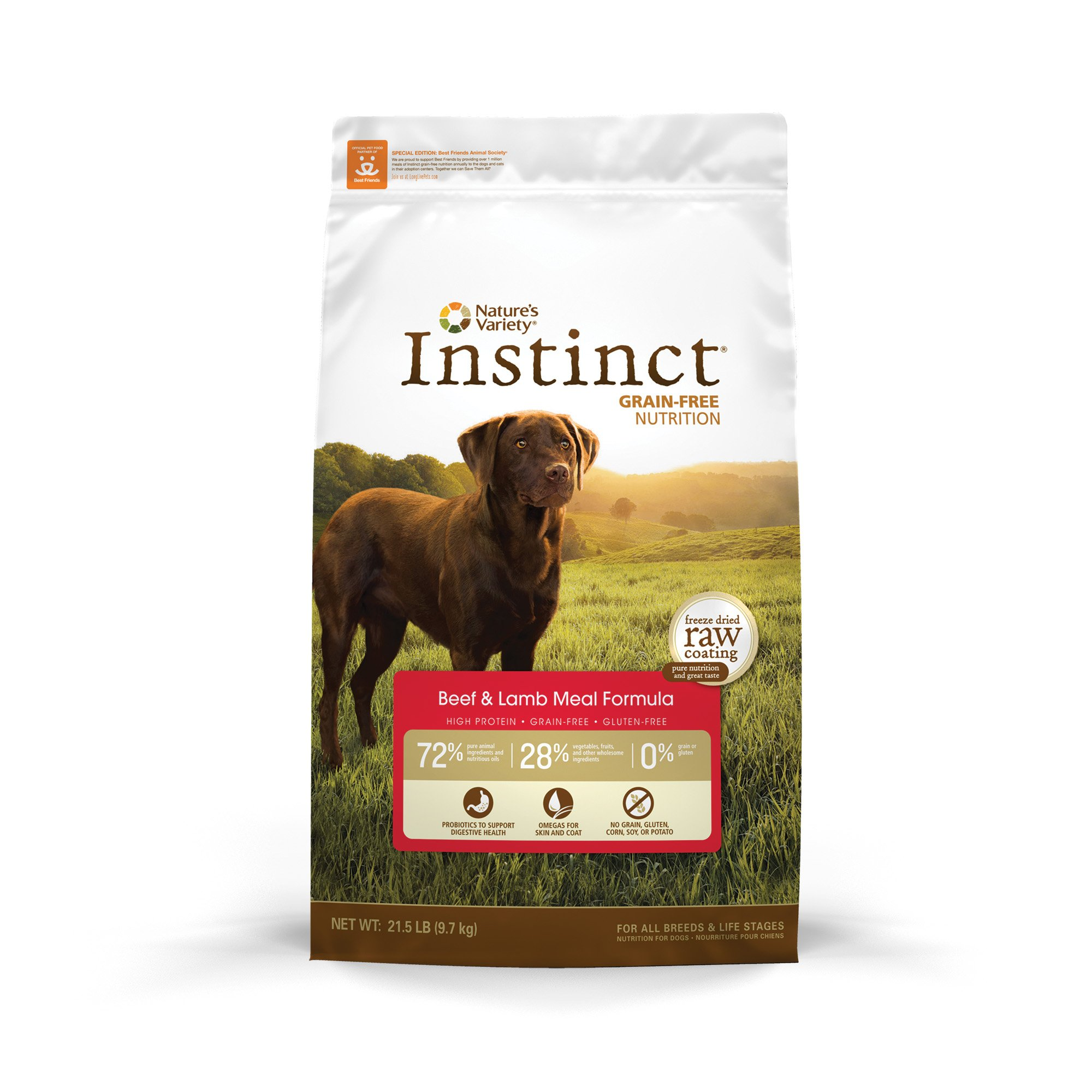 Nature's Variety Instinct Grain-Free Beef & Lamb Meal Dog Food