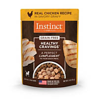 Nature's Variety Instinct Healthy Cravings Tender Chicken Dog Food Pouch