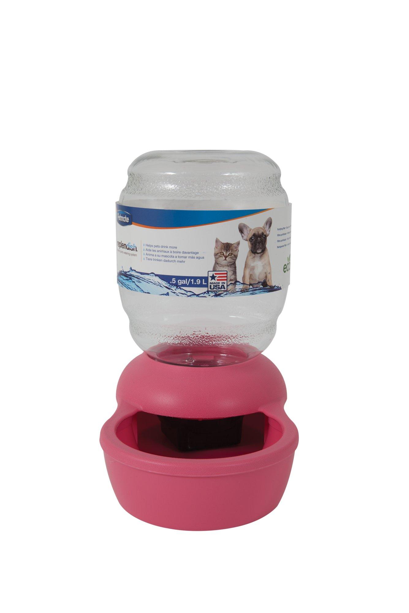 Petmate Replendish Gravity Waterer Pink Dog Bowl