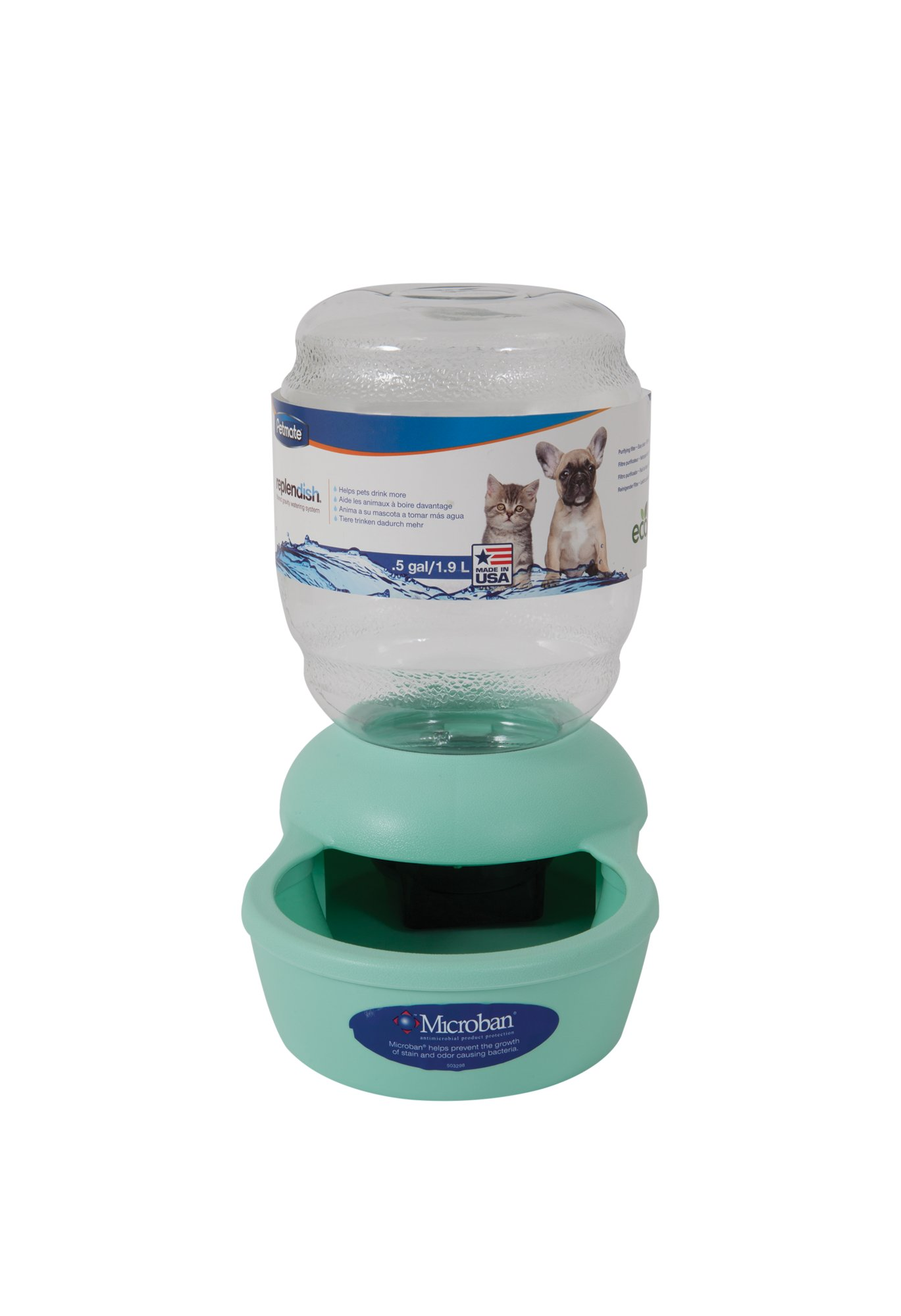 Petmate Replendish Gravity Waterer Mint Cat Bowl