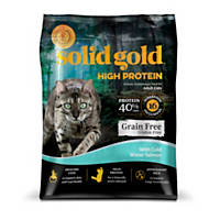 Solid Gold High Protein Grain and Gluten Free Dry Cat Food, With Cold Water Salmon