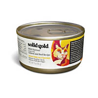 Solid Gold Wild Harvest Holistic Grain Free Wet Cat Food Classic Pate, Salmon and Beef Recipe