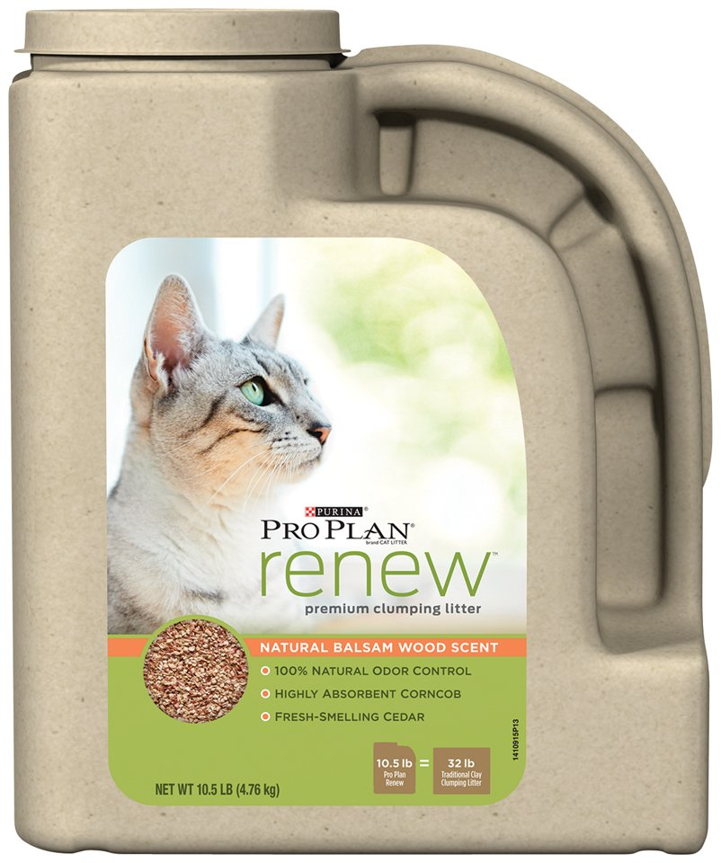 Purina Pro Plan Renew Natural Balsam Wood Scent Clumping Litter