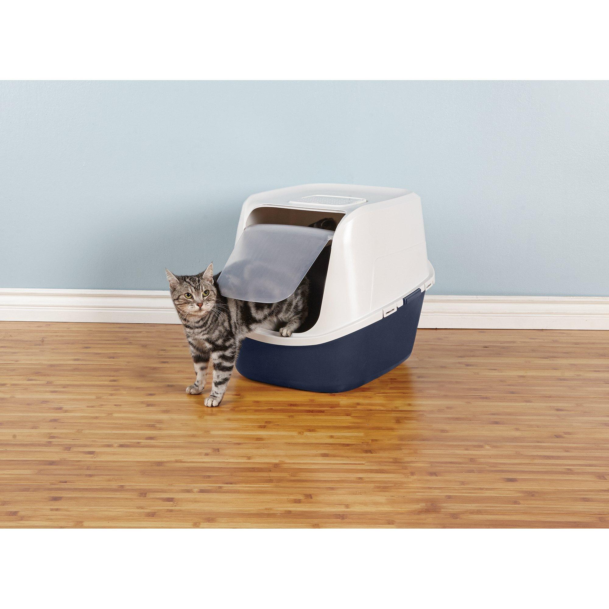so phresh jumbo enclosed cat litter box in navy petco. Black Bedroom Furniture Sets. Home Design Ideas