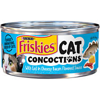 Purina Friskies Cat Concoctions with Cod in Cheesy Bacon Flavored Sauce Cat Food