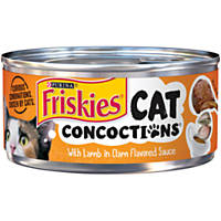 Purina Friskies Cat Concoctions with Lamb in Clam Flavored Sauce Cat Food