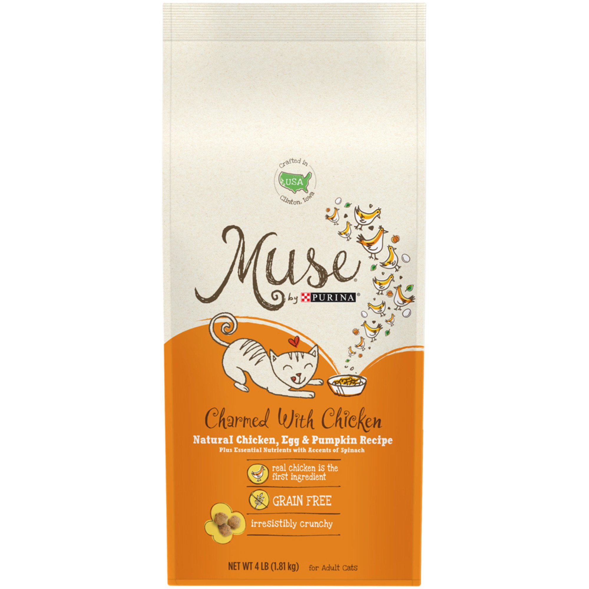 Muse by Purina Charmed With Chicken Natural Chicken, Egg & Pumpkin Recipe Cat Food