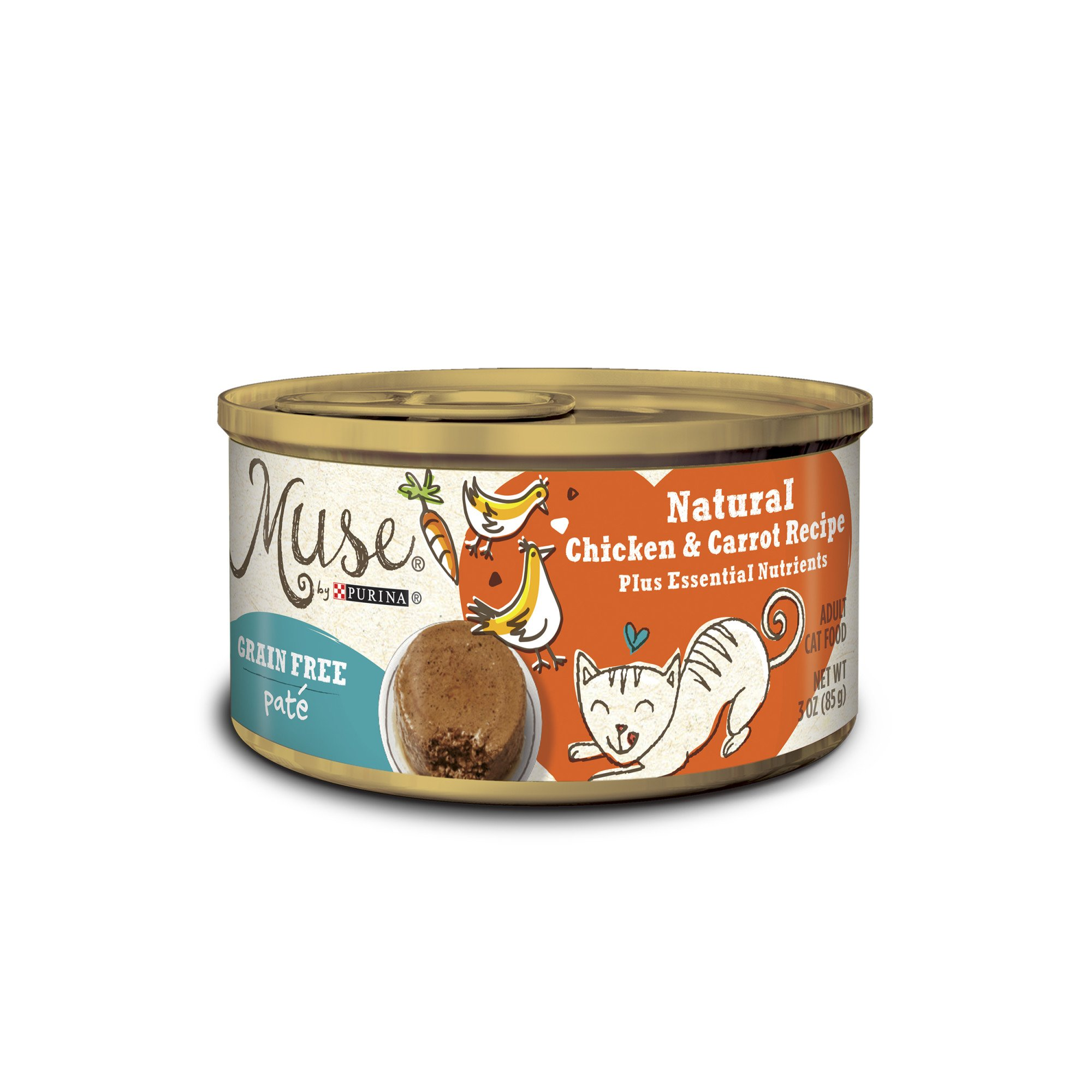 Muse by Purina Natural Chicken & Carrot Recipe Cat Food