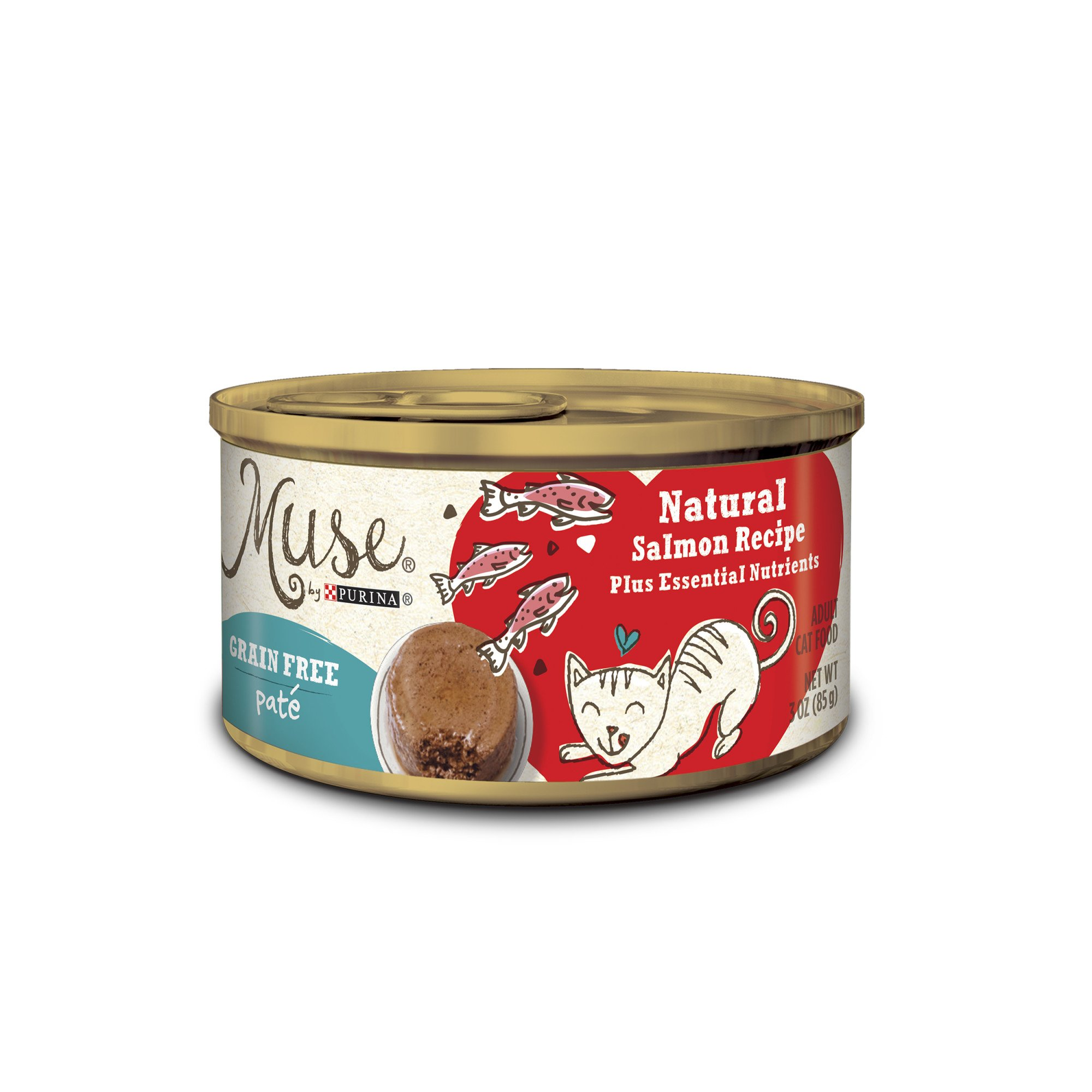 Muse by Purina Natural Salmon Recipe Cat Food