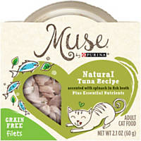 Muse by Purina Natural Tuna Recipe Accented with Spinach in Fish Broth Cat Food