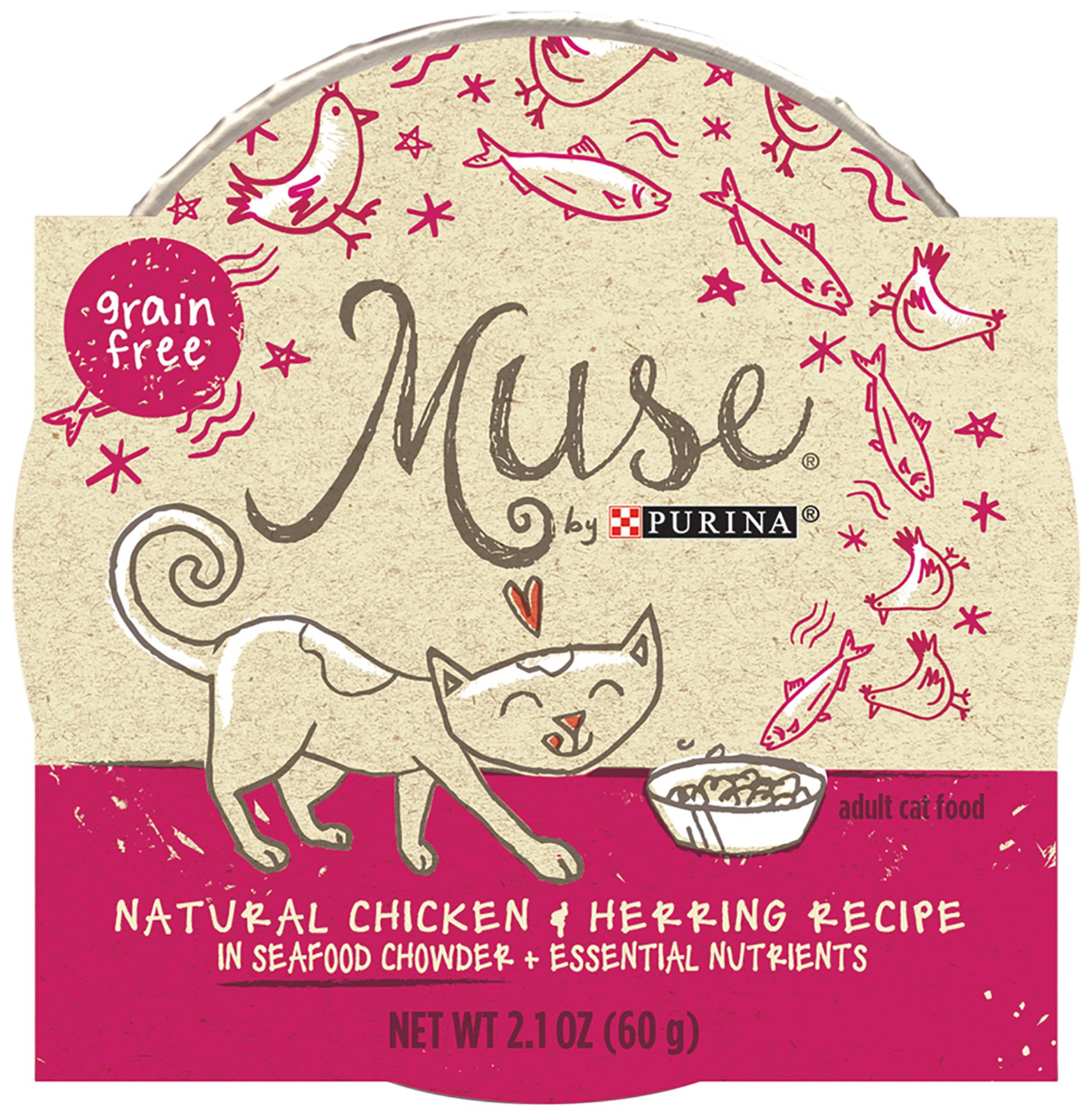 Muse by Purina Natural Chicken & Herring Recipe in a Seafood Chowder Cat Food