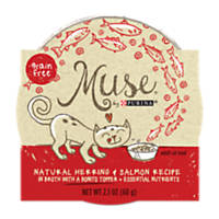 Muse by Purina Natural Herring & Salmon Recipe In Broth with a Bonito Topper Cat Food