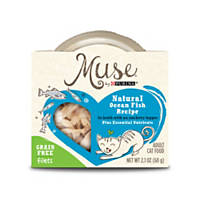 Muse by Purina Natural Ocean Fish Recipe In Broth with an Anchovy Topper Cat Food