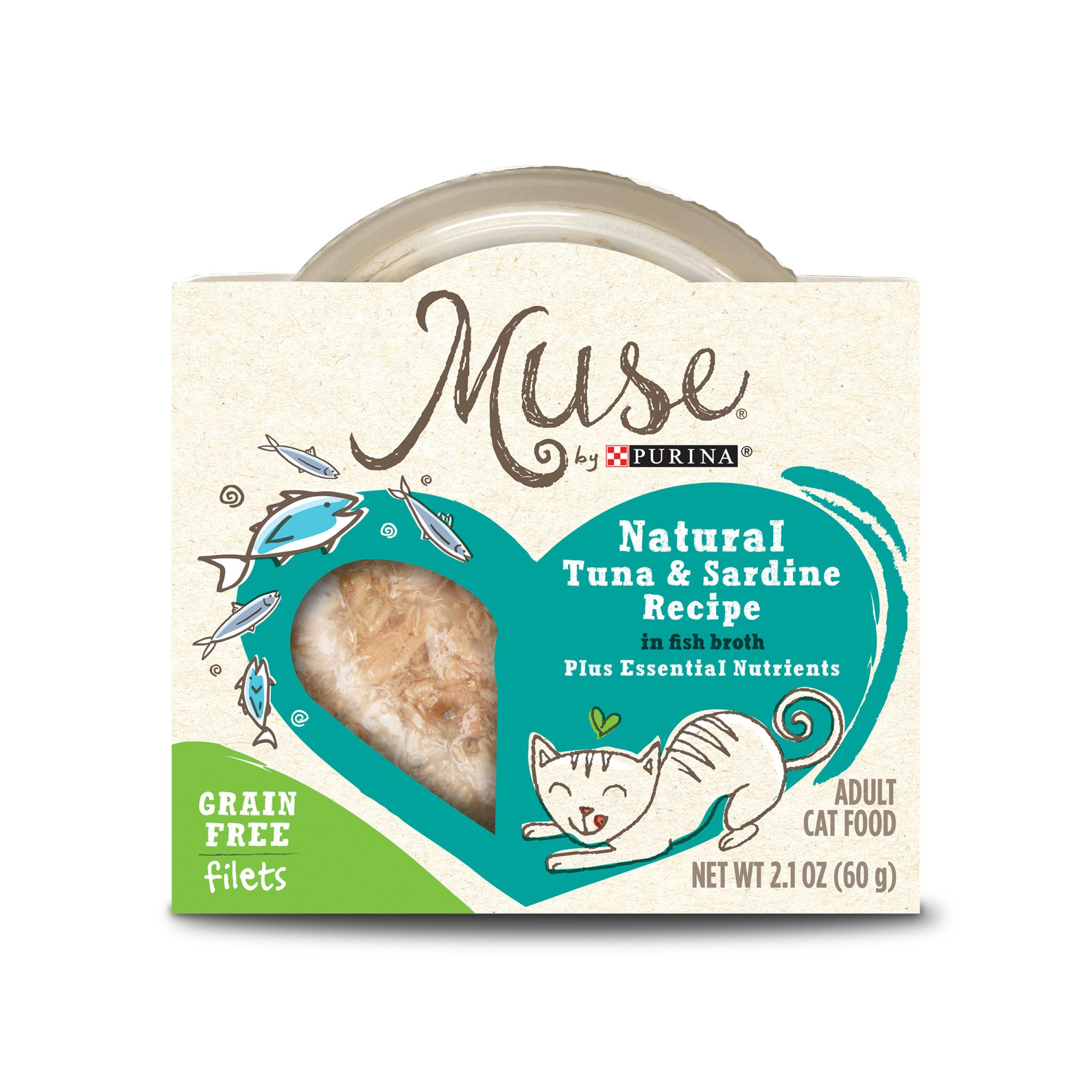 Muse by Purina Natural Tuna & Sardines Recipe In Fish Broth Cat Food