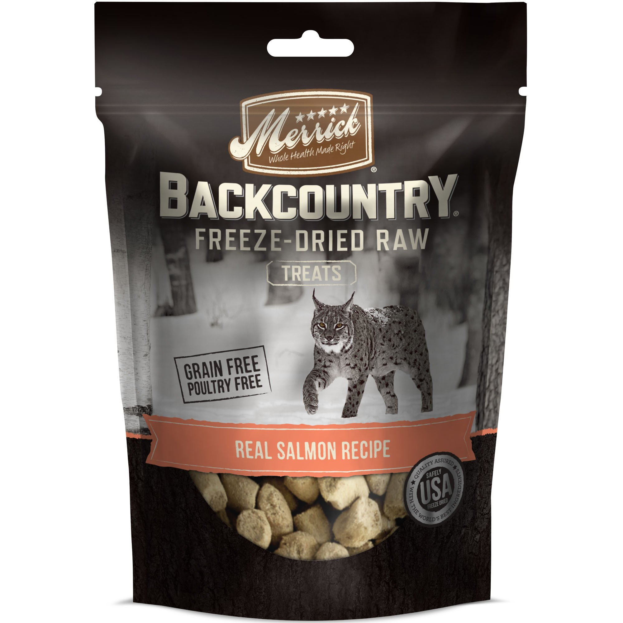 Merrick Backcountry Real Salmon Recipe Freeze-Dried Cat Treats