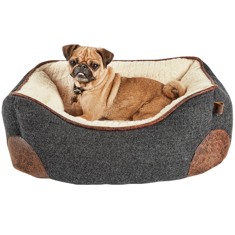 Harmony Grey Lattice Print Nester Dog Bed 24 X 18 Small