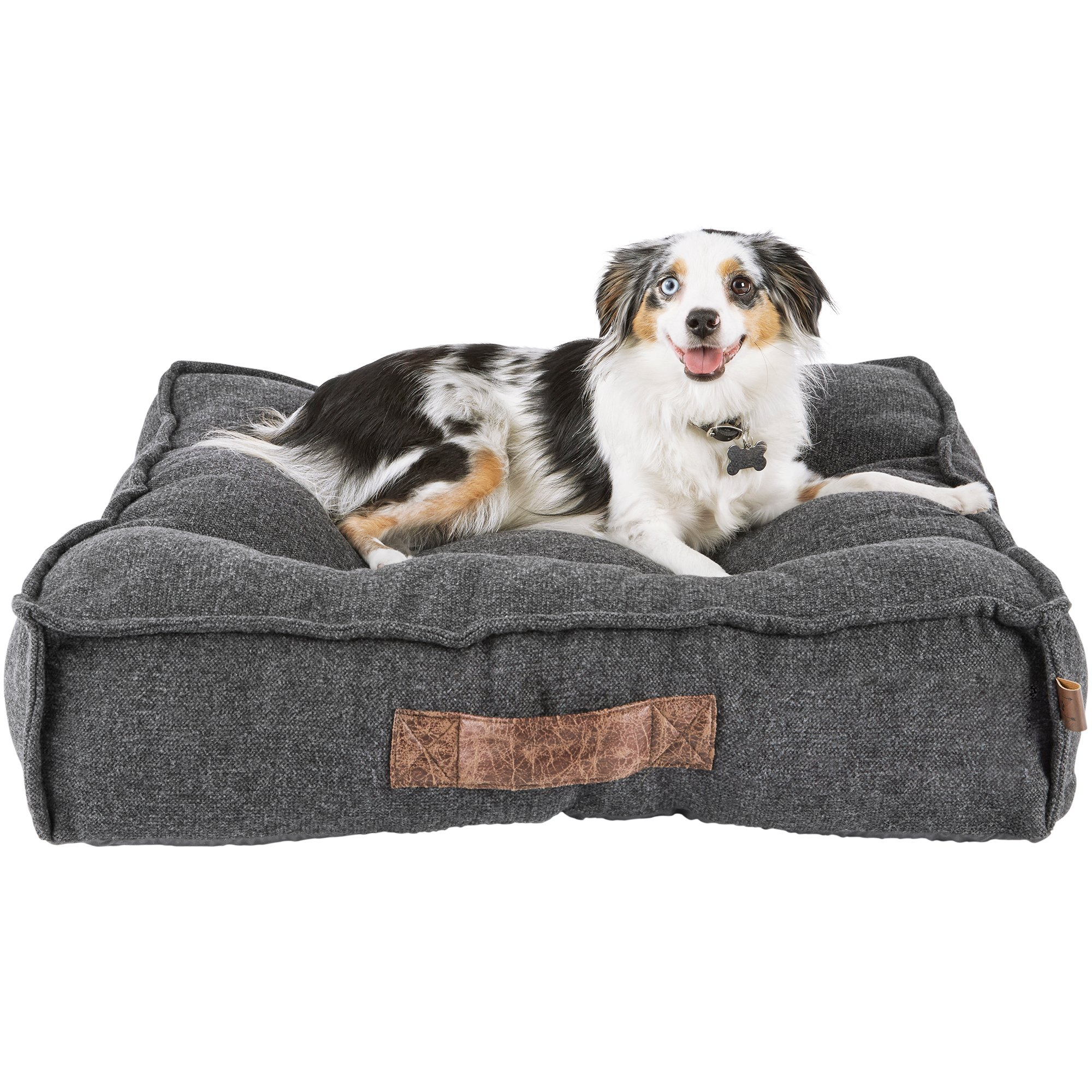 Harmony Grey Lounger Memory Foam Dog Bed Petco