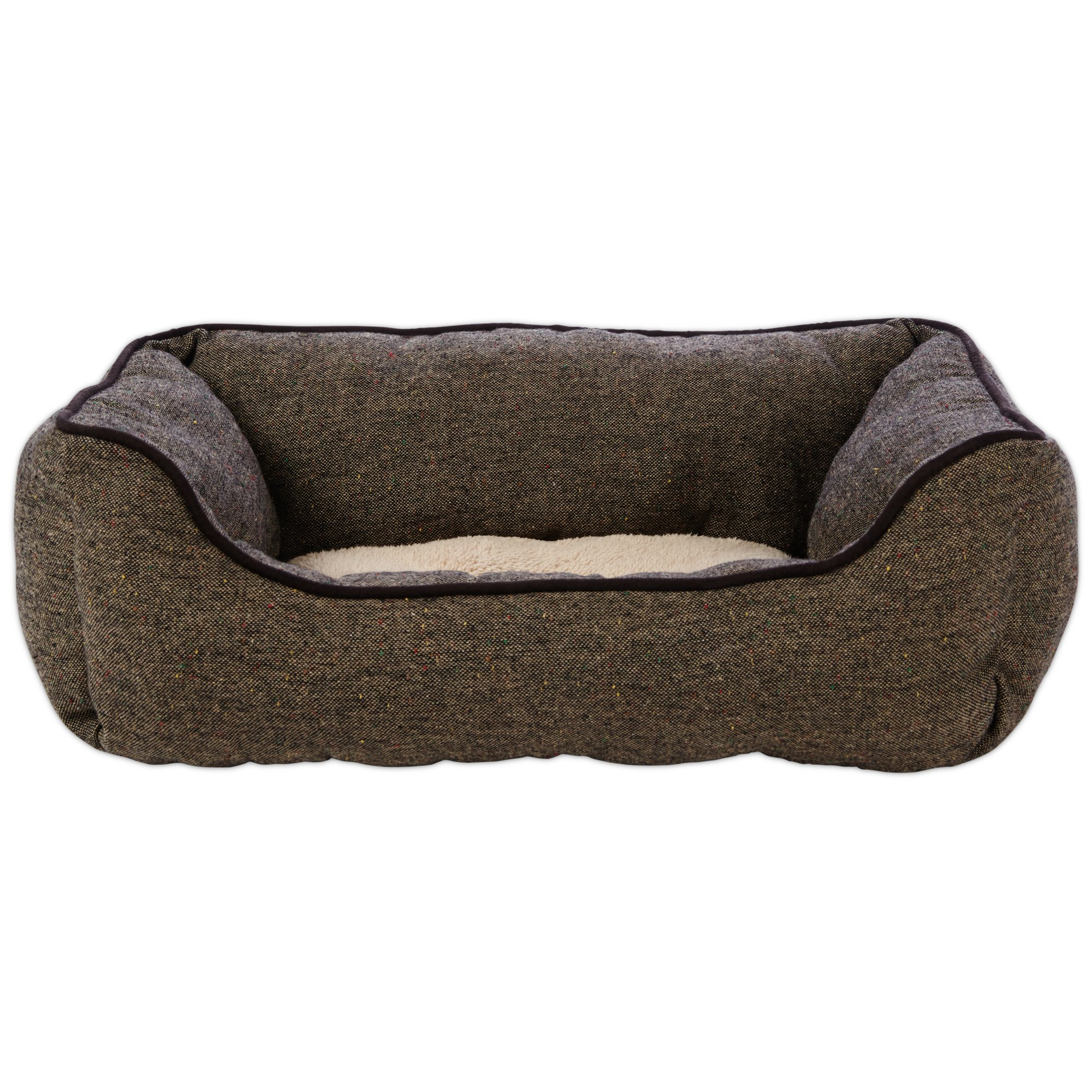 Harmony Nester Dog Bed in Brown Tweed