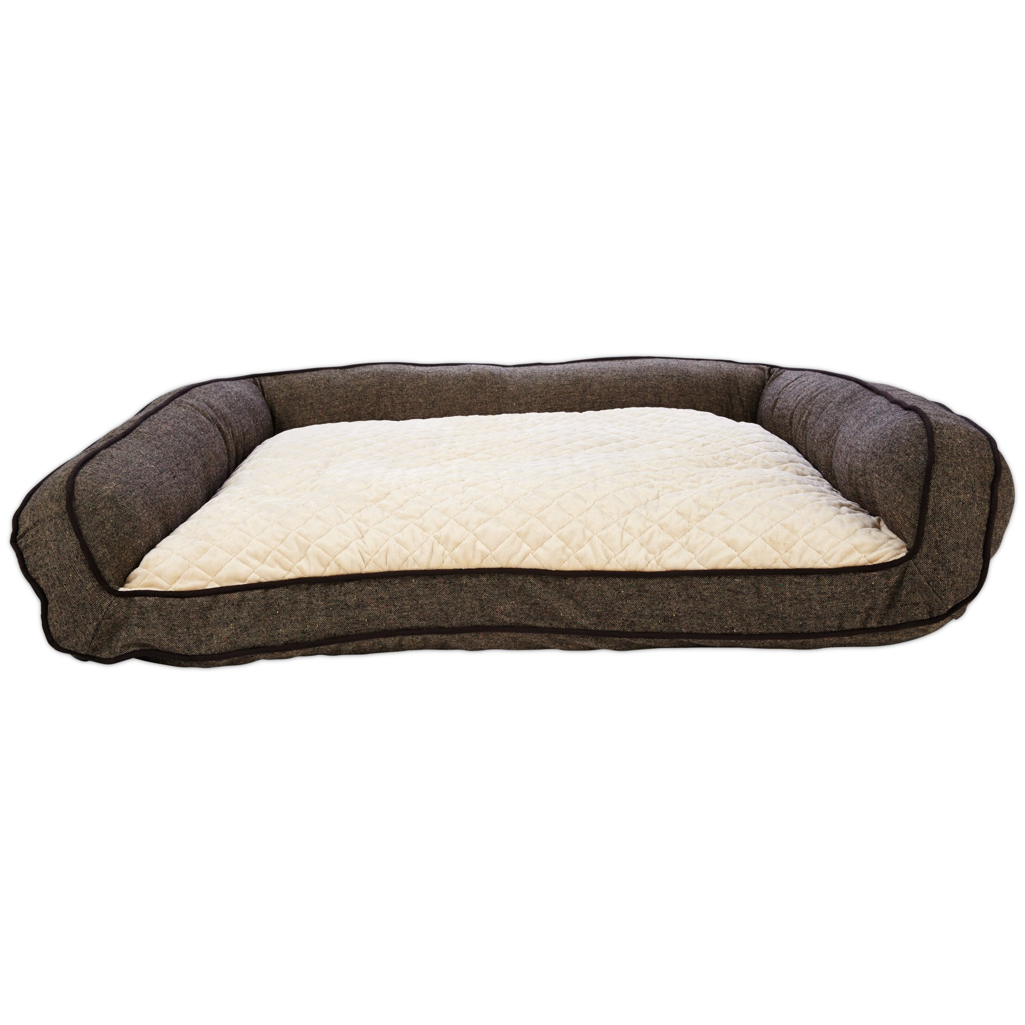 Harmony Memory Foam Couch Dog Bed In Brown Petco