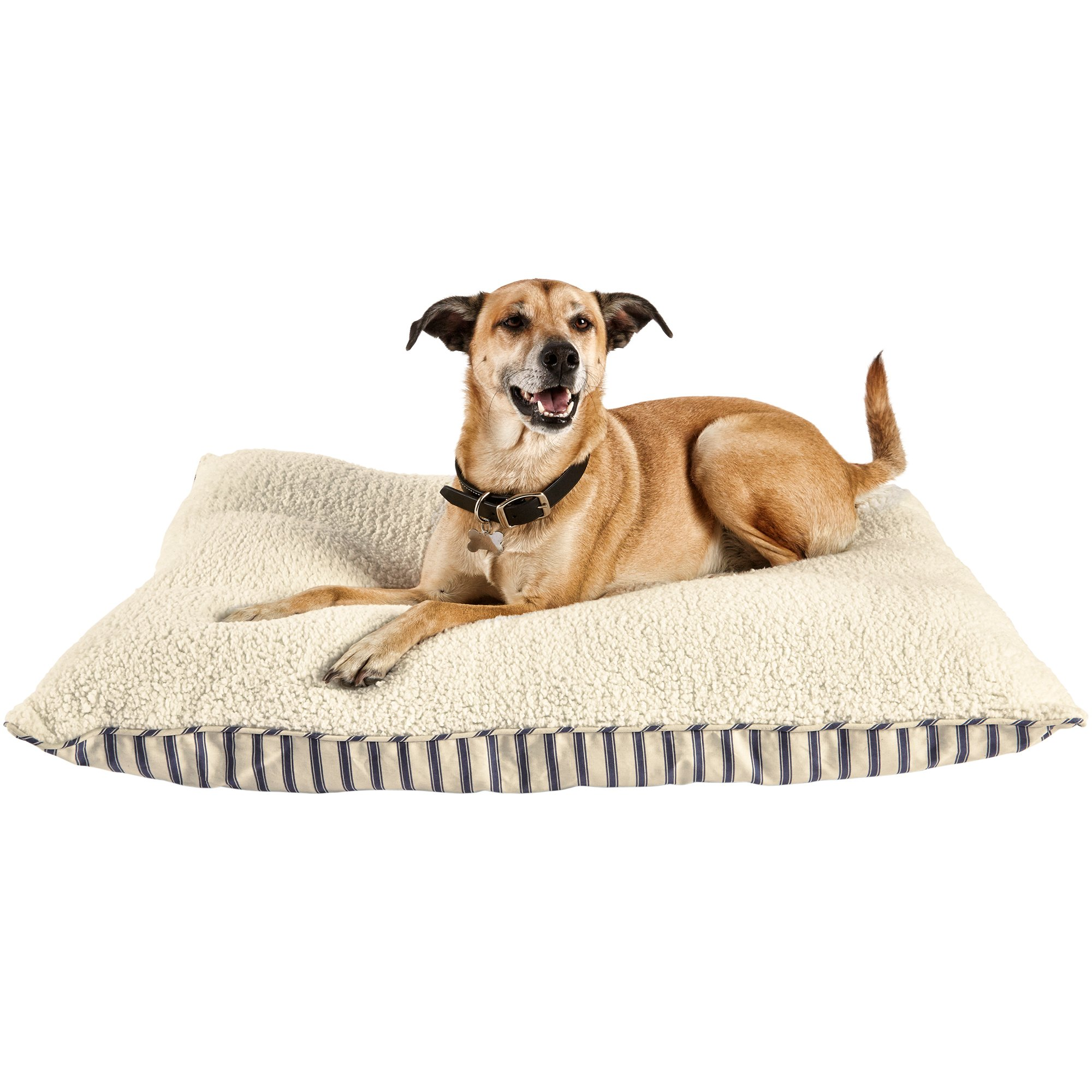 Harmony Blue Striped Lounger Dog Bed