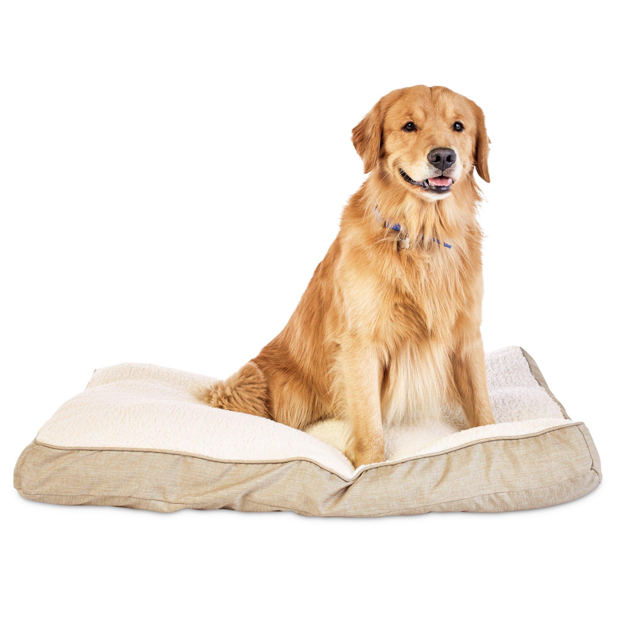 Harmony Khaki Lounger Dog Bed
