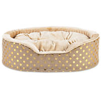 Harmony Orthopedic Cuddler Dog Bed in Gold Blast